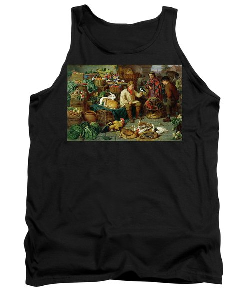 Market Scene Tank Top by Henry Charles Bryant
