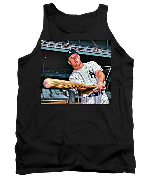 Mickey Mantle Painting Tank Top by Florian Rodarte