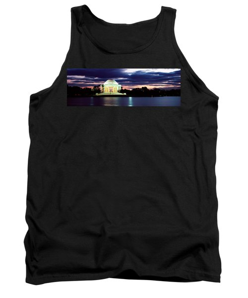 Monument Lit Up At Dusk, Jefferson Tank Top by Panoramic Images