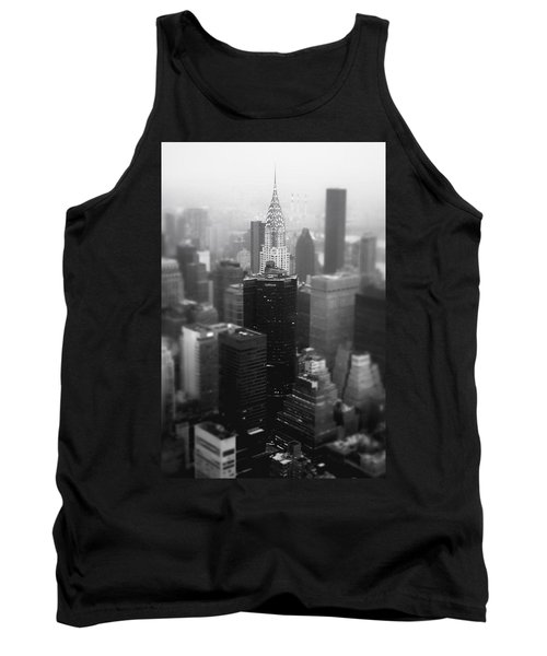 New York City - Fog And The Chrysler Building Tank Top by Vivienne Gucwa