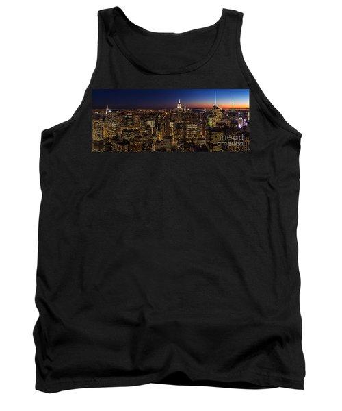 New York City Skyline At Dusk Tank Top by Mike Reid