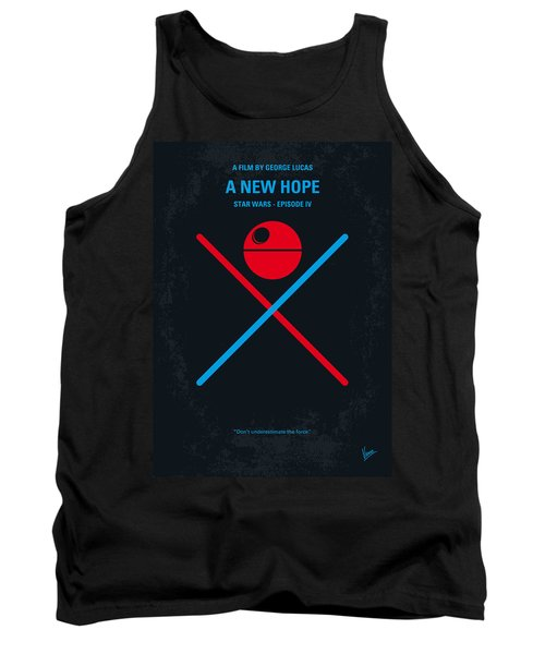 No154 My Star Wars Episode Iv A New Hope Minimal Movie Poster Tank Top by Chungkong Art