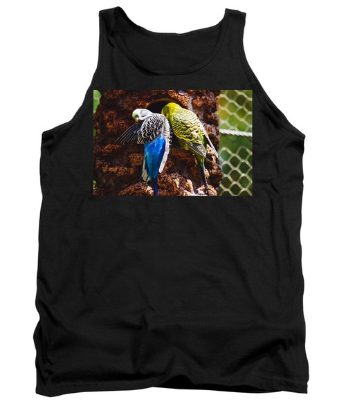 Parakeets Tank Top by Pati Photography
