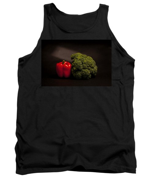 Pepper Nd Brocoli Tank Top by Peter Tellone