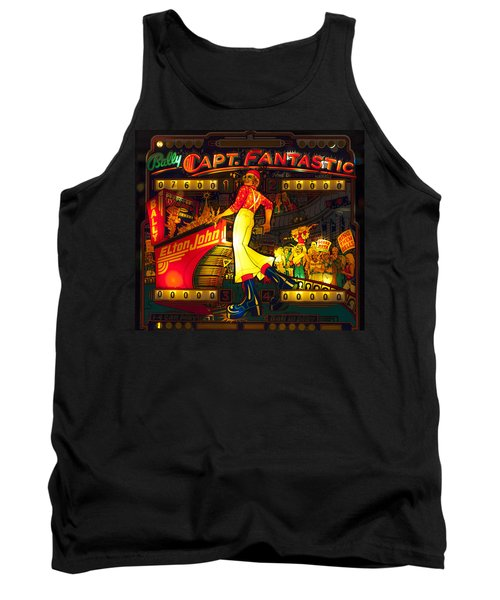 Pinball Machine Capt. Fantastic Tank Top by Terry DeLuco