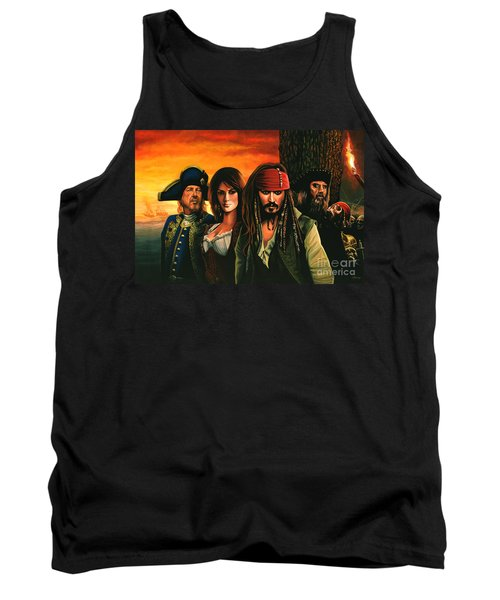 Pirates Of The Caribbean  Tank Top by Paul Meijering