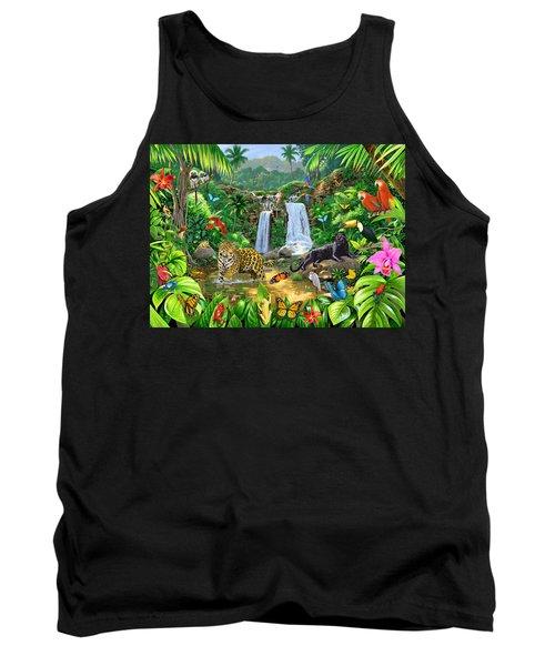 Rainforest Harmony Variant 1 Tank Top by Chris Heitt