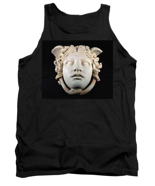 Rondanini Medusa, Copy Of A 5th Century Bc Greek Marble Original, Roman Plaster Tank Top by .