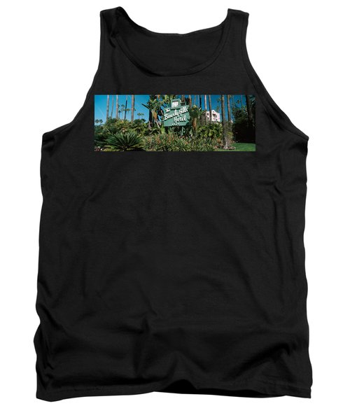 Signboard Of A Hotel, Beverly Hills Tank Top by Panoramic Images