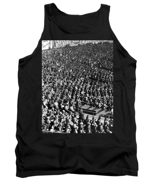 Baseball Fans At Yankee Stadium In New York   Tank Top by Underwood Archives