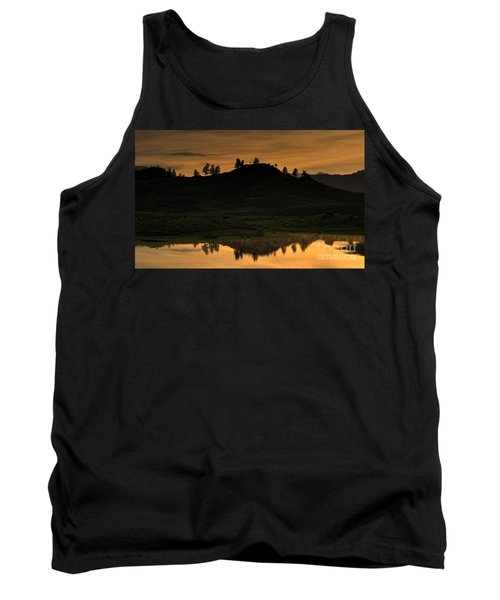 Tank Top featuring the photograph Sunrise Behind A Yellowstone Ridge by Bill Gabbert