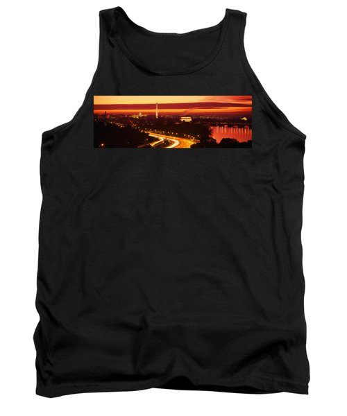 Sunset, Aerial, Washington Dc, District Tank Top by Panoramic Images