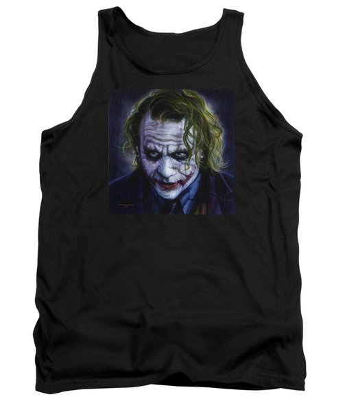 The Joker Tank Top by Tim  Scoggins