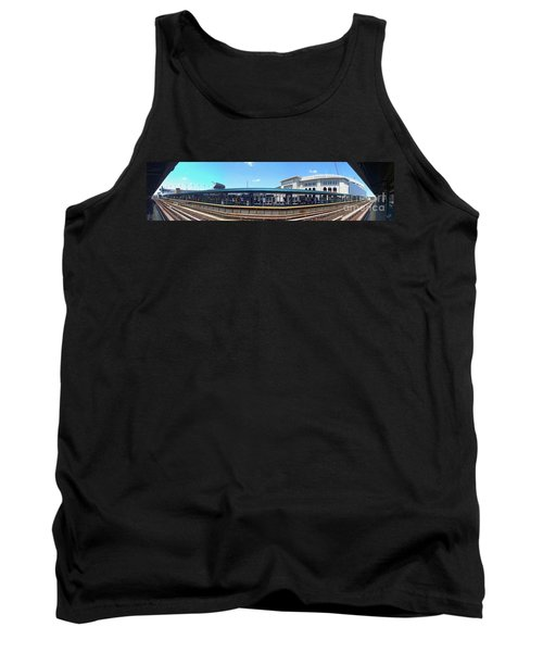 The Old And New Yankee Stadiums Panorama Tank Top by Nishanth Gopinathan