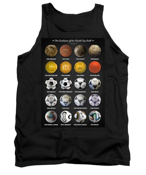 The World Cup Balls Tank Top by Taylan Soyturk