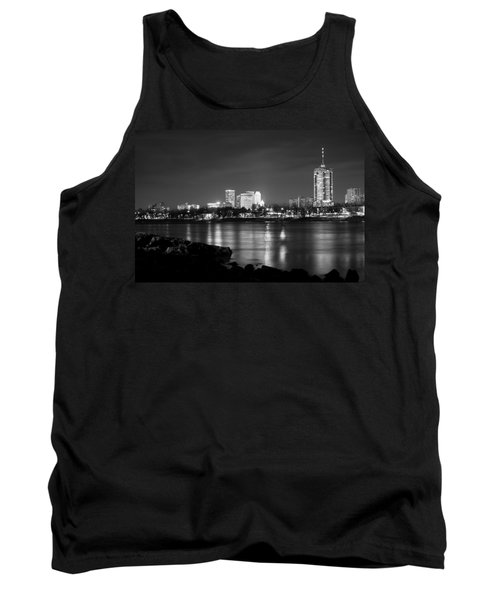 Tulsa In Black And White - University Tower View Tank Top by Gregory Ballos