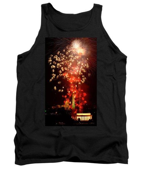Usa, Washington Dc, Fireworks Tank Top by Panoramic Images