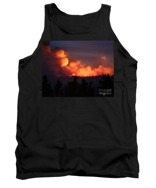 Tank Top featuring the photograph White Draw Fire First Night by Bill Gabbert