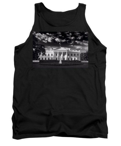 White House Sunrise B W Tank Top by Steve Gadomski