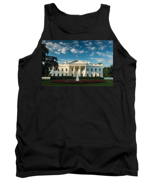 White House Sunrise Tank Top by Steve Gadomski