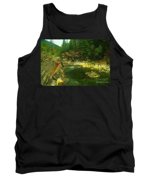 Cliff Over The Yak River Tank Top by Jeff Swan