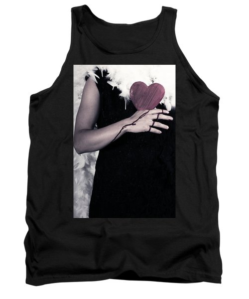 Lady With Blood And Heart Tank Top by Joana Kruse