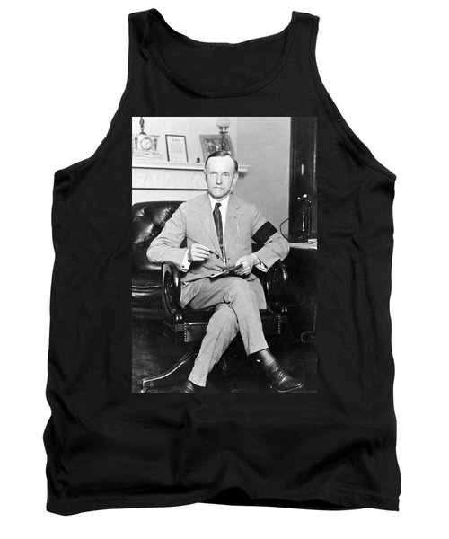 President Calvin Coolidge Tank Top by International  Images