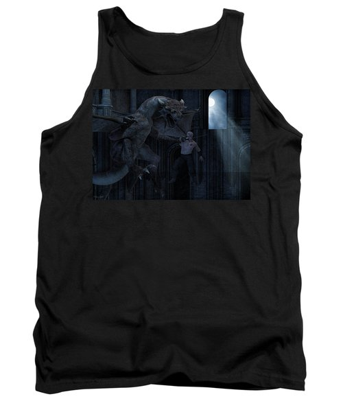 Under The Moonlight Tank Top by Lourry Legarde