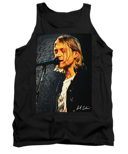 Kurt Cobain Tank Top by Taylan Soyturk