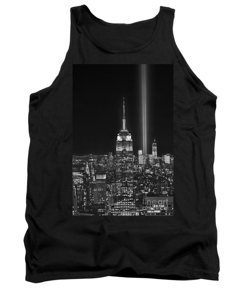 New York City Tribute In Lights Empire State Building Manhattan At Night Nyc Tank Top by Jon Holiday