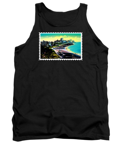 Surreal Colors Of Miami Beach Florida Tank Top by Elaine Plesser