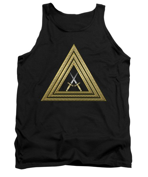 15th Degree Mason - Knight Of The East Masonic Jewel  Tank Top by Serge Averbukh