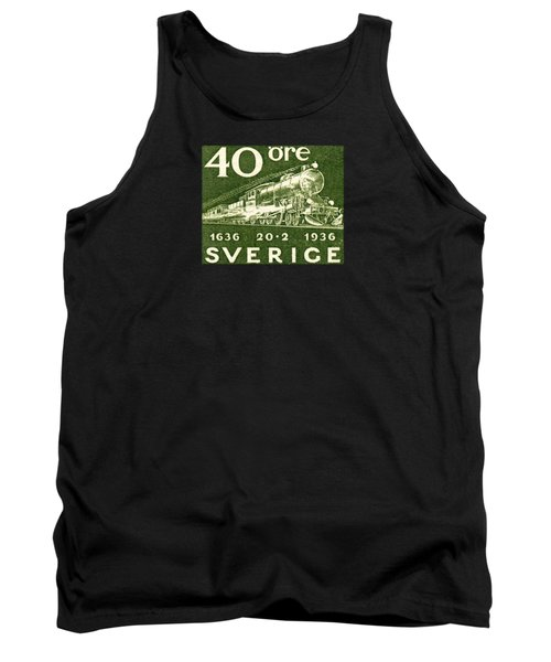 1936 Swedish Railroad Stamp Tank Top by Historic Image