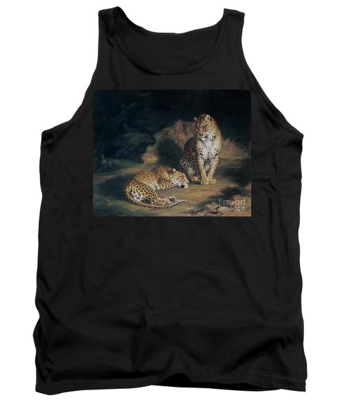 A Pair Of Leopards Tank Top by William Huggins