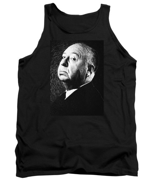 Alfred Hitchcock Tank Top by Taylan Soyturk