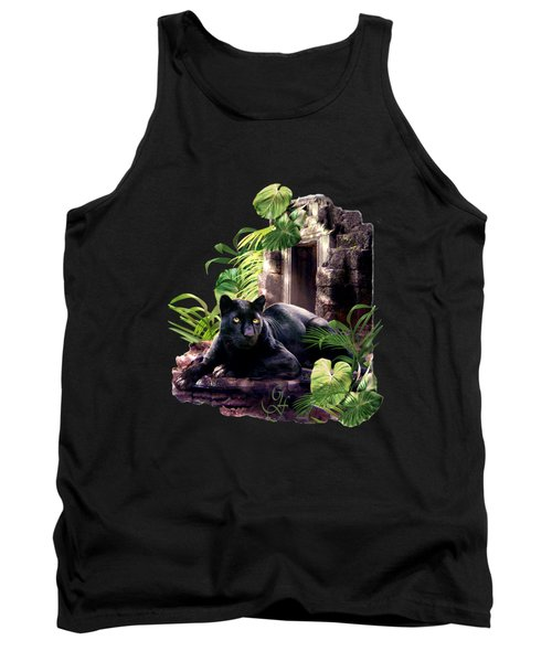 Black Panther Custodian Of Ancient Temple Ruins  Tank Top by Regina Femrite