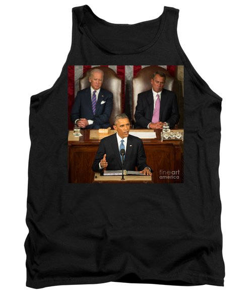 Barack Obama 2015 Sotu Address Tank Top by Science Source