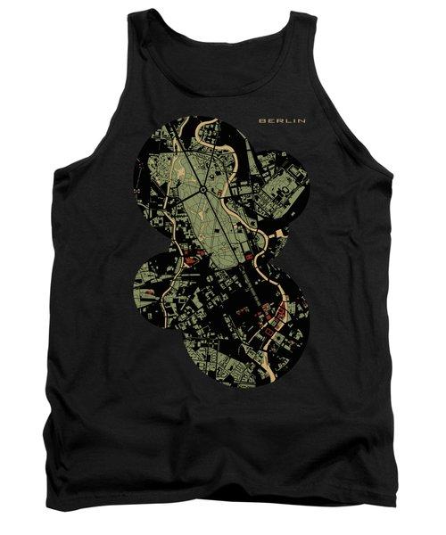Berlin Engraving Map Tank Top by Jasone Ayerbe- Javier R Recco