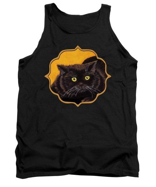 Black Cat Tank Top by Anastasiya Malakhova