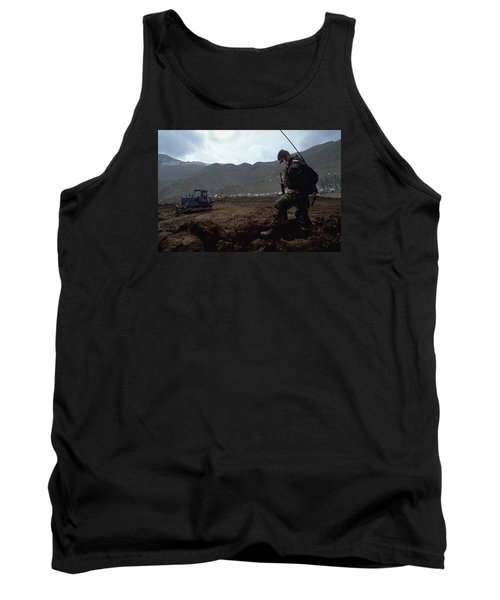 Tank Top featuring the photograph Boots On The Ground by Travel Pics