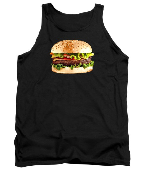 Burger Sndwich Hamburger Tank Top by T Shirts R Us -