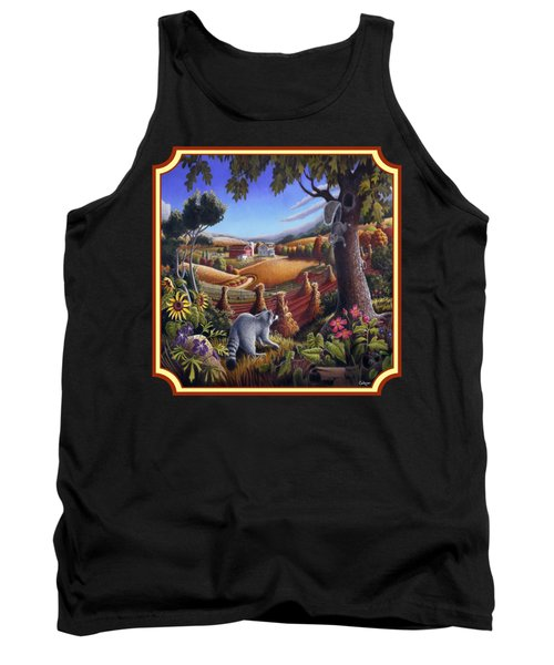 Coon Gap Holler Country Landscape - Square Format Tank Top by Walt Curlee