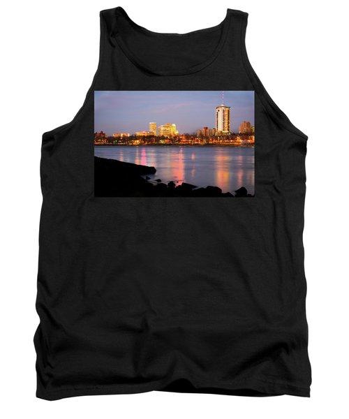 Downtown Tulsa Oklahoma - University Tower View Tank Top by Gregory Ballos