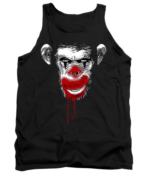 Evil Monkey Clown Tank Top by Nicklas Gustafsson