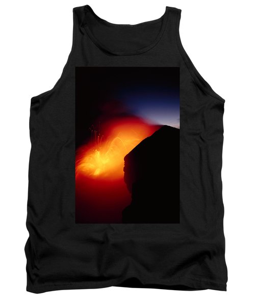 Explosion At Twilight Tank Top by William Waterfall - Printscapes