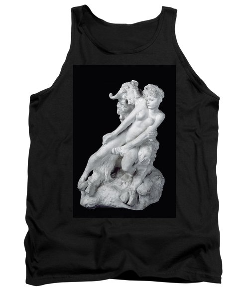 Faun And Nymph Tank Top by Auguste Rodin