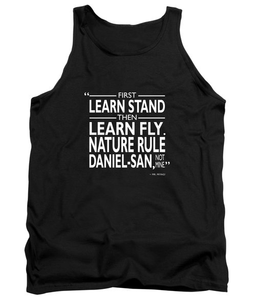 First Learn Stand Tank Top by Mark Rogan