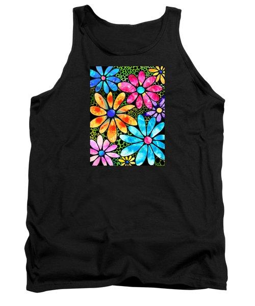 Floral Art - Big Flower Love - Sharon Cummings Tank Top by Sharon Cummings