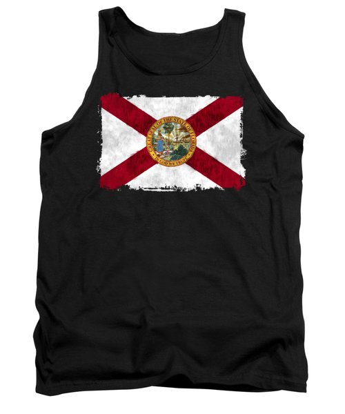 Florida Flag Tank Top by World Art Prints And Designs