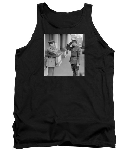 General John Pershing Saluting Babe Ruth Tank Top by War Is Hell Store
